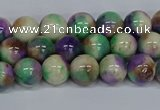 CMJ717 15.5 inches 8mm round rainbow jade beads wholesale