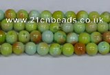 CMJ736 15.5 inches 4mm round rainbow jade beads wholesale