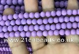 CMJ816 15.5 inches 6mm round matte Mashan jade beads wholesale