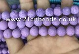 CMJ819 15.5 inches 12mm round matte Mashan jade beads wholesale