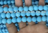 CMJ838 15.5 inches 10mm round matte Mashan jade beads wholesale