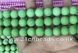 CMJ844 15.5 inches 12mm round matte Mashan jade beads wholesale
