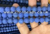CMJ848 15.5 inches 10mm round matte Mashan jade beads wholesale