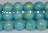 CMJ966 15.5 inches 6mm round Mashan jade beads wholesale
