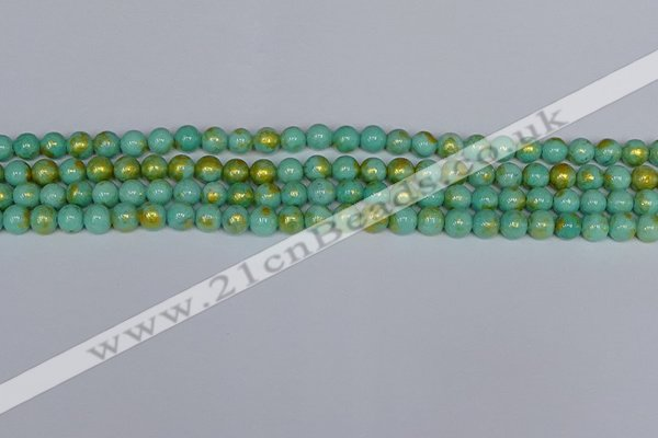 CMJ970 15.5 inches 4mm round Mashan jade beads wholesale