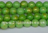 CMJ975 15.5 inches 4mm round Mashan jade beads wholesale
