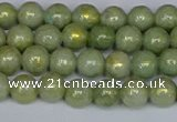 CMJ980 15.5 inches 4mm round Mashan jade beads wholesale