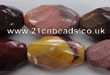CMK133 15.5 inches 20*30mm faceted rice mookaite beads wholesale