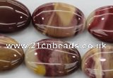 CMK143 15.5 inches 22*30mm oval mookaite beads wholesale