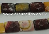 CMK150 15.5 inches 12*16mm faceted rectangle mookaite beads wholesale