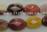CMK155 15.5 inches 13*18mm faceted oval mookaite beads wholesale