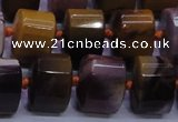 CMK290 15.5 inches 11*15*15mm faceted triangle mookaite beads