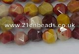 CMK324 15.5 inches 6mm faceted nuggets mookaite gemstone beads