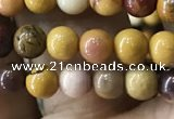 CMK330 15.5 inches 4mm round mookaite beads wholesale
