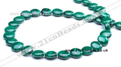 CMN110 15.5 inches 10mm flat round natural malachite beads