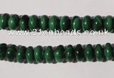 CMN205 15.5 inches 5*8mm rondelle natural malachite beads wholesale