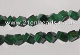 CMN245 15.5 inches 4*4mm cube natural malachite beads wholesale