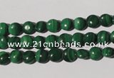 CMN250 15.5 inches 6mm flat round natural malachite beads wholesale