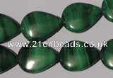 CMN285 15.5 inches 15*20mm flat teardrop natural malachite beads