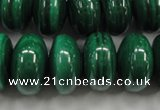 CMN402 15.5 inches 6*10mm rondelle natural malachite beads wholesale