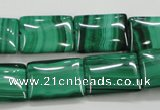 CMN444 15.5 inches 13*18mm rectangle natural malachite beads