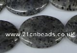 CMO25 15.5 inches 22*30mm oval moss quartz beads wholesale