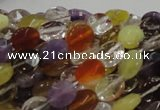 CMQ02 15.5 inches 8*10mm faceted oval multicolor quartz beads
