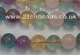 CMQ213 15.5 inches 10mm round multicolor quartz gemstone beads