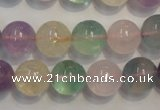 CMQ214 15.5 inches 12mm round multicolor quartz gemstone beads