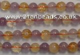 CMQ215 15.5 inches 6mm round multicolor quartz gemstone beads