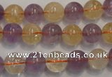 CMQ217 15.5 inches 10mm round multicolor quartz gemstone beads
