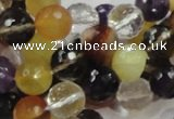 CMQ33 15.5 inches 10mm faceted round multicolor quartz beads
