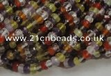 CMQ34 15.5 inches 2.5*4mm faceted rondelle multicolor quartz beads