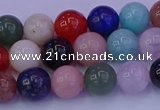 CMQ347 15.5 inches 8mm round mixed quartz gemstone beads