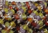 CMQ35 15.5 inches 4*6mm faceted rondelle multicolor quartz beads