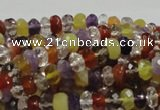 CMQ36 15.5 inches 5*8mm faceted rondelle multicolor quartz beads