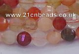 CMQ426 15.5 inches 6mm faceted round natural mixed quartz beads