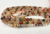 CMQ448 15.5 inches 4mm - 12mm round mixed quartz graduated beads