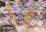CMQ507 15.5 inches 15*15mm twisted diamond colorfull quartz beads
