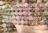 CMQ535 15.5 inches 10mm faceted round colorfull quartz beads