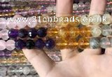CMQ545 15.5 inches 10mm faceted round colorfull quartz beads