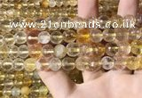 CMQ562 15.5 inches 10mm faceted round citrine gemstone beads