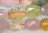 CMQ67 15.5 inches 13-20mm*20-28mm faceted nuggets multicolor quartz beads