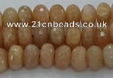 CMS1092 15.5 inches 6*10mm faceted rondelle moonstone beads