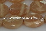 CMS1107 15.5 inches 13*18mm faceted oval moonstone gemstone beads