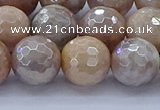 CMS1304 15.5 inches 12mm faceted round AB-color moonstone beads