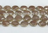 CMS1346 7.5 inches 15*20mm faceted oval moonstone beads