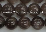 CMS142 15.5 inches 8mm round natural grey moonstone beads