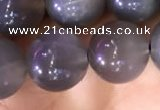 CMS1423 15.5 inches 10mm round black moonstone beads wholesale
