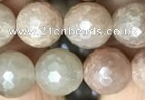 CMS1453 15.5 inches 10mm faceted round AB-color moonstone beads